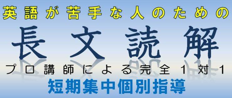 英語|長文読解特別個別指導|広島の個別指導の塾フェイス【大学受験】